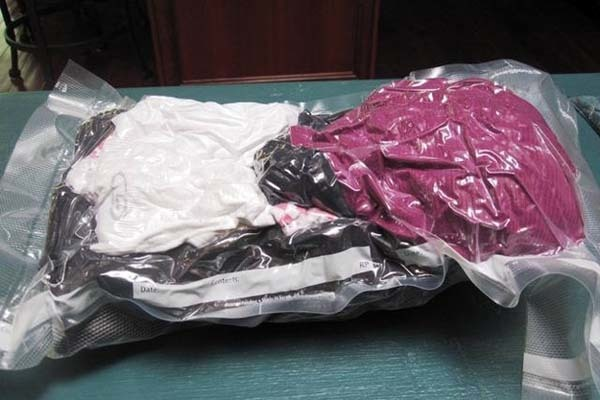 18.) Vacuum seal your bulky winter clothes to save on space.