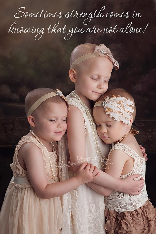 This photo of Ainsley, Rylie and Rheann went viral earlier this year after it was posted by photographer Lora Scantling on Facebook.