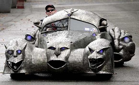 1.) Looks like something a villain would drive.