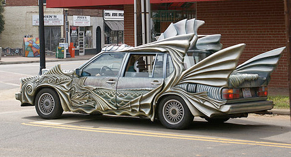 11.) This could be Aquaman's car if he ever left the ocean.
