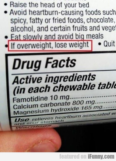 If Overweight, Lose Weight