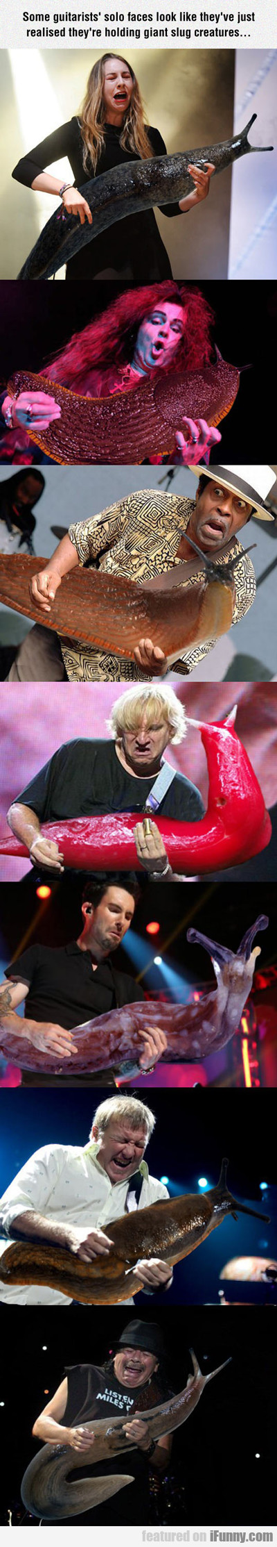 Some Guitarists' Solo Faces...