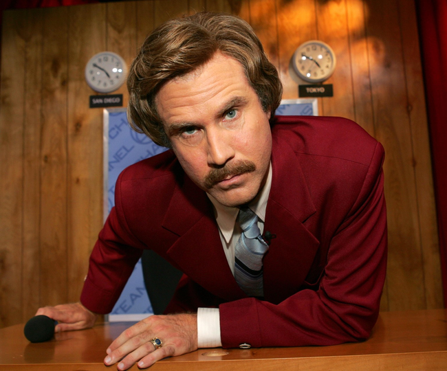 4.) While he eventually got to play anchorman Ron Burgundy, Will Ferrell wanted to go into sports broadcasting.