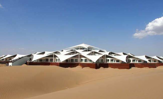 Desert Lotus Hotel, or Sounding Sand Hotel, Ordos, Inner Mongolian Autonomous Region, China
