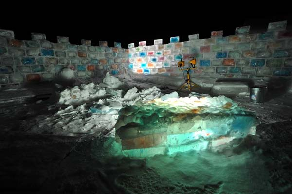 BOOM. Awesome ice fort.